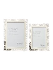 Metal with enamel inlay frame range