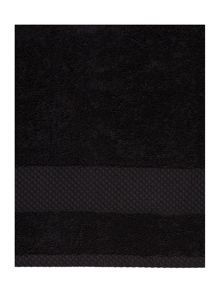 Linea Egyptian towel range in black