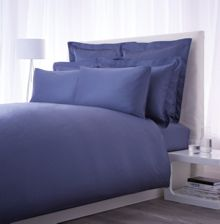 Luxury Hotel Collection 500 TC airforce blue flat sheet king