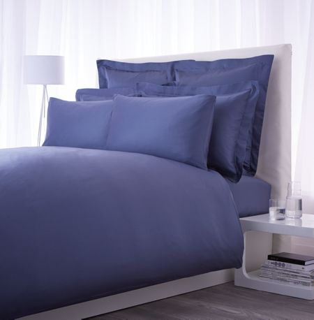Luxury Hotel Collection 500 TC airforce blue oxford pillowcase