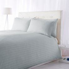 Wide Sateen Stripe Blue bedding range