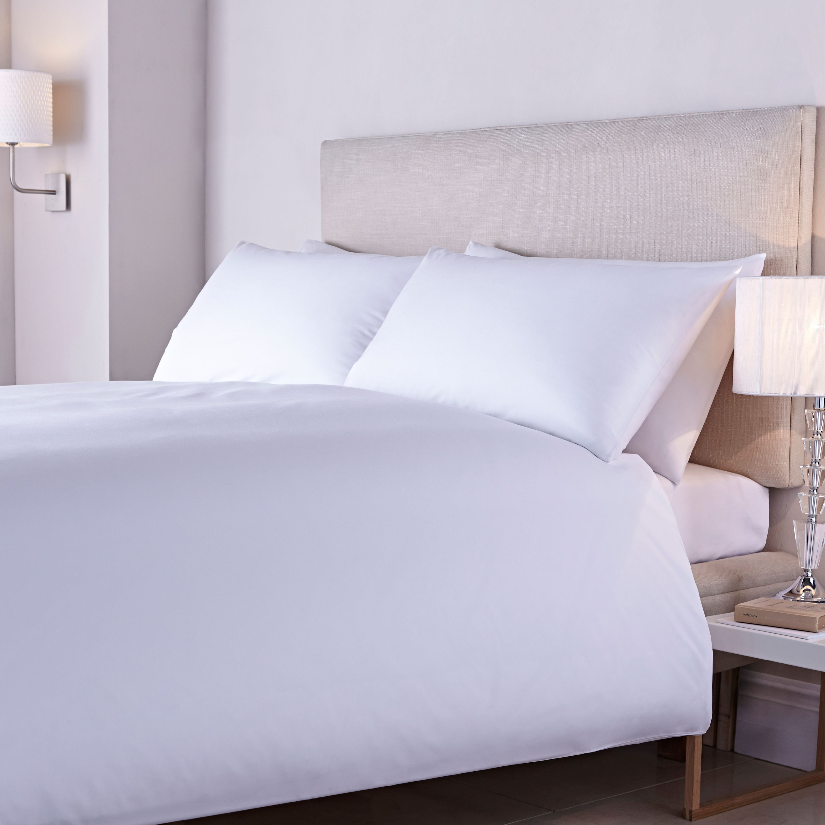 Image of Luxury Hotel Collection 400tc crisp percale duvet cover set double