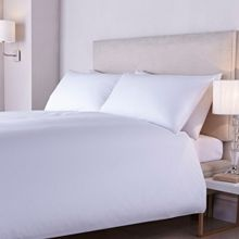 Luxury Hotel Collection 400tc crisp percale flat sheet double