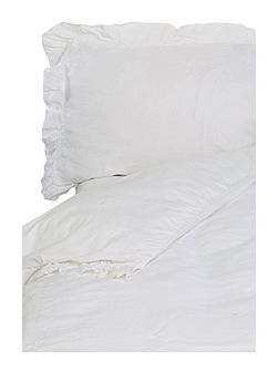 White linen super king duvet cover