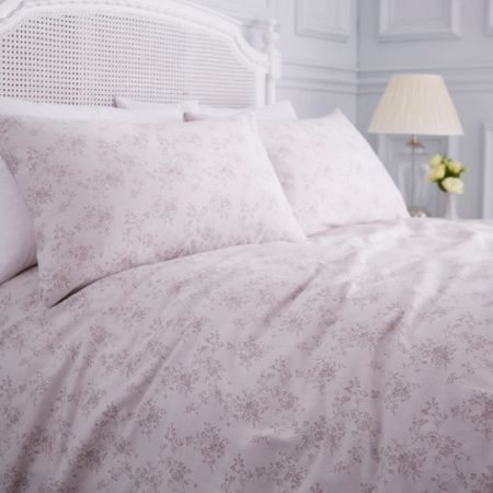 Shabby Chic Grace grey jacquard double duvet cover
