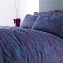 Midnight jacquard single duvet cover