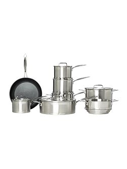 Capri 3 piece stainless steel saucepan set