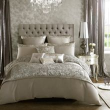 Kylie Minogue Alexa Silver super king duvet cover