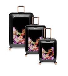 Cascade Floral Black Luggage Set