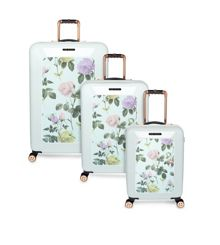 Distinguished Rose Floral Luggage Set
