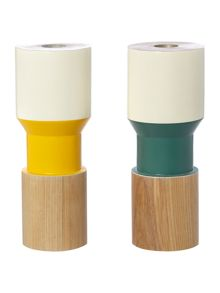 Linea Wooden Candle Stick Holder Range