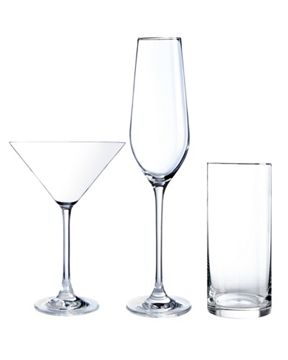 Linea Cocktail collection clear glassware