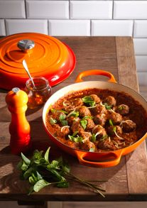 Le Creuset Cast Iron cookware range in Volcanic