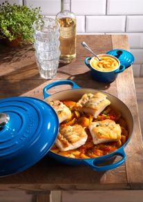 Cast Iron cookware range; Marseille Blue