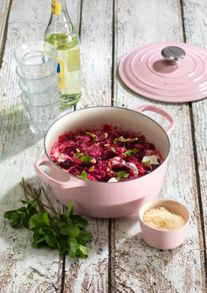 Cast Iron cookware range in Pink