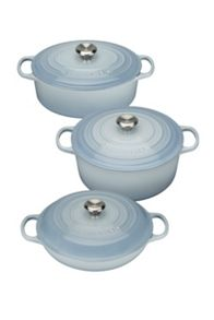 Le Creuset Cast Iron cookware range in Coastal Blue