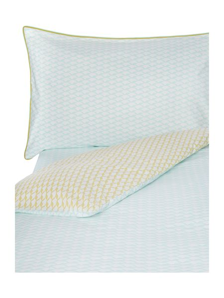 Yves Delorme Voguer menthe single flat sheet