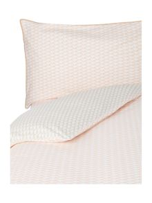 Yves Delorme Voguer coral single fitted sheet