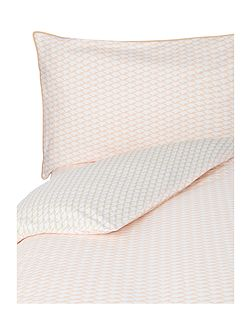 Voguer coral single duvet cover