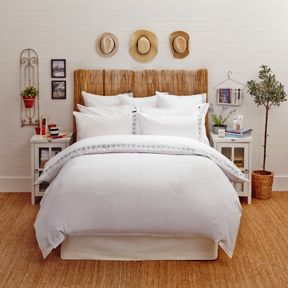 Lexington Poplin with Embroidery bedding in Grey