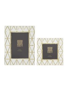 Biba Art Deco Frame White and Gold Range
