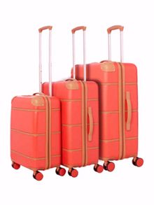 Dickins & Jones Red Trunk 4 wheel Hard Luggage Set