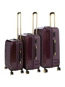 Biba Biba Emboss Purple Luggage Range