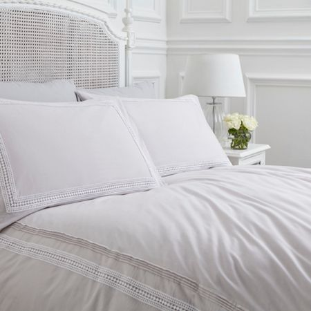 Shabby Chic Isabel grey super king duvet cover