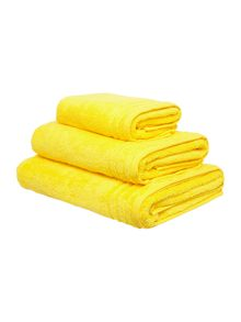 Zero Twist bath towel range - Yellow