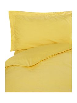 Egyptian cotton single flat sheet yellow
