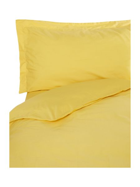 Linea Egyptian cotton single flat sheet yellow