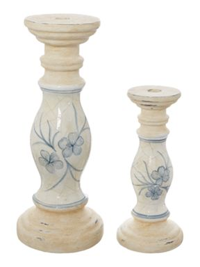 Shabby Chic Ceramic Candle Holder Range