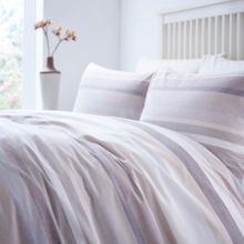 Woven stripe double duvet cover set
