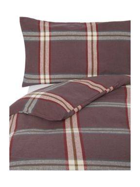 Linea Murray flannel check bedding range