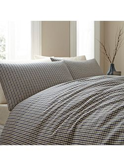 Fletcher gingham superking duvet cover set