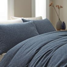 Dundee stripe king duvet cover set