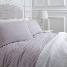 Abigail lilac jacquard housewife pillowcase