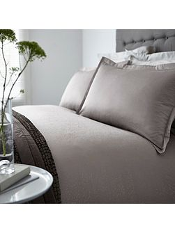 Beaumont grey print superking duvet cover