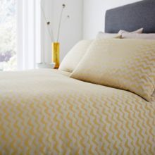 Living by Christiane Lemieux Casual Chevron bedding range in Citrine