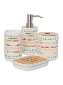 Dickins Print Bathroom Accessories Range
