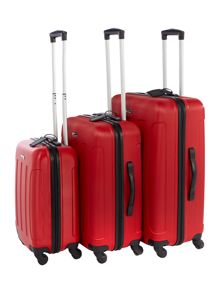 Linea Dakota red luggage set