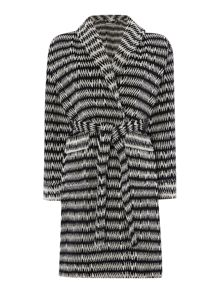 Linea Black chevron robe range