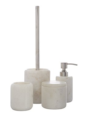 gray & willow marble bathroom accessories range - house of