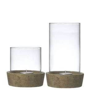 Gray & Willow Candle Holder with Ceramic Base Range
