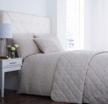 Taupe & cream jacquard duvet set double