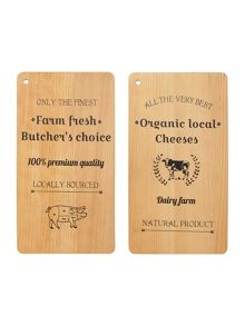Linea Printed beech meat & cheese board range
