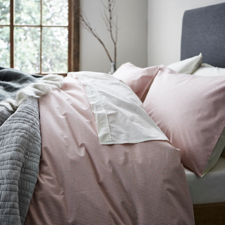 Gray & Willow Stockholm red stripe king duvet cover