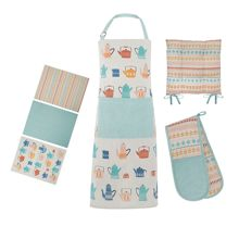 Dickins & Jones Teapot cotton kitchen linens range