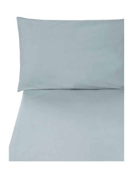 Gray & Willow Ice blue 200tc percale flat sheet king