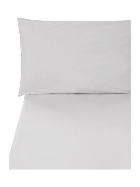 Gray & Willow Pebble washed super king fitted sheet